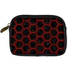 Hexagon2 Black Marble & Red Wood (r) Digital Camera Cases by trendistuff