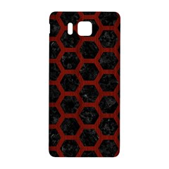 Hexagon2 Black Marble & Red Wood (r) Samsung Galaxy Alpha Hardshell Back Case by trendistuff