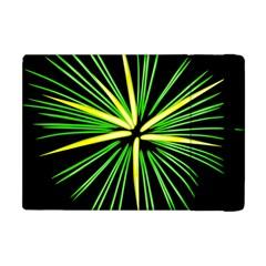 Fireworks Green Happy New Year Yellow Black Sky Apple Ipad Mini Flip Case by Alisyart
