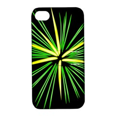 Fireworks Green Happy New Year Yellow Black Sky Apple Iphone 4/4s Hardshell Case With Stand by Alisyart