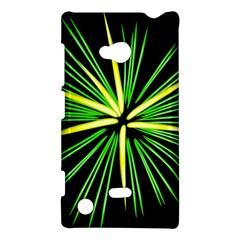 Fireworks Green Happy New Year Yellow Black Sky Nokia Lumia 720 by Alisyart