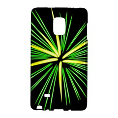 Fireworks Green Happy New Year Yellow Black Sky Galaxy Note Edge by Alisyart