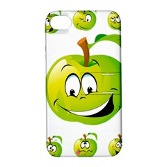 Apple Green Fruit Emoji Face Smile Fres Red Cute Apple Iphone 4/4s Hardshell Case With Stand by Alisyart