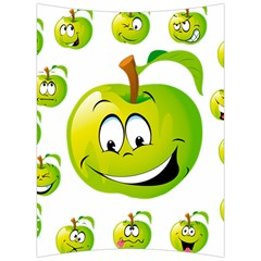 Apple Green Fruit Emoji Face Smile Fres Red Cute Back Support Cushion by Alisyart