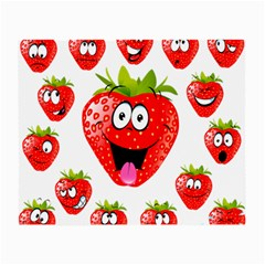 Strawberry Fruit Emoji Face Smile Fres Red Cute Small Glasses Cloth by Alisyart