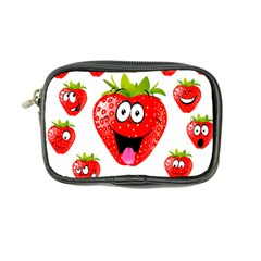 Strawberry Fruit Emoji Face Smile Fres Red Cute Coin Purse by Alisyart