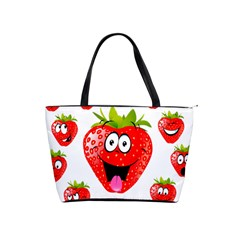 Strawberry Fruit Emoji Face Smile Fres Red Cute Shoulder Handbags by Alisyart