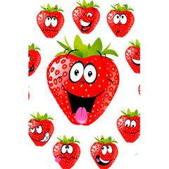 Strawberry Fruit Emoji Face Smile Fres Red Cute 5 5  X 8 5  Notebooks by Alisyart