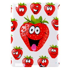 Strawberry Fruit Emoji Face Smile Fres Red Cute Apple Ipad 3/4 Hardshell Case (compatible With Smart Cover) by Alisyart