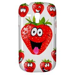 Strawberry Fruit Emoji Face Smile Fres Red Cute Galaxy S3 Mini by Alisyart