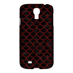 Scales1 Black Marble & Red Wood (r) Samsung Galaxy S4 I9500/i9505 Hardshell Case by trendistuff