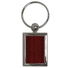 Scales2 Black Marble & Red Wood Key Chains (rectangle)  by trendistuff