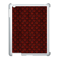 Scales2 Black Marble & Red Wood Apple Ipad 3/4 Case (white) by trendistuff