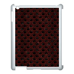 Scales2 Black Marble & Red Wood (r) Apple Ipad 3/4 Case (white) by trendistuff