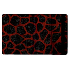 Skin1 Black Marble & Red Wood Apple Ipad 3/4 Flip Case by trendistuff