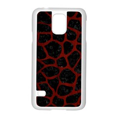 Skin1 Black Marble & Red Wood Samsung Galaxy S5 Case (white) by trendistuff