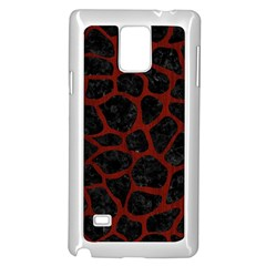 Skin1 Black Marble & Red Wood Samsung Galaxy Note 4 Case (white) by trendistuff