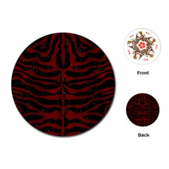 Skin2 Black Marble & Red Wood (r) Playing Cards (round)  by trendistuff