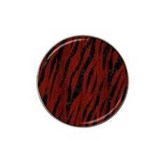 Skin3 Black Marble & Red Wood Hat Clip Ball Marker (4 Pack) by trendistuff