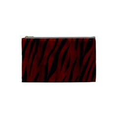 Skin3 Black Marble & Red Wood Cosmetic Bag (small)  by trendistuff