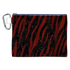 Skin3 Black Marble & Red Wood (r) Canvas Cosmetic Bag (xxl) by trendistuff
