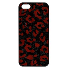 Skin5 Black Marble & Red Wood Apple Iphone 5 Seamless Case (black) by trendistuff