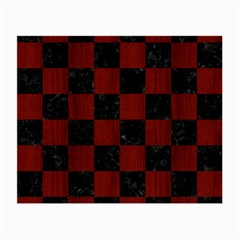 Square1 Black Marble & Red Wood Small Glasses Cloth by trendistuff