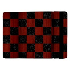 Square1 Black Marble & Red Wood Samsung Galaxy Tab Pro 12 2  Flip Case by trendistuff