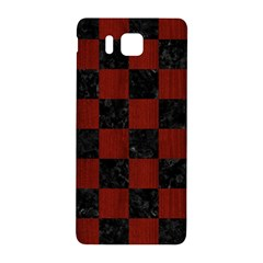 Square1 Black Marble & Red Wood Samsung Galaxy Alpha Hardshell Back Case by trendistuff