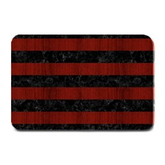 Stripes2 Black Marble & Red Wood Plate Mats by trendistuff
