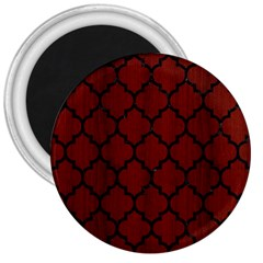 Tile1 Black Marble & Red Wood 3  Magnets by trendistuff