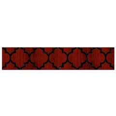Tile1 Black Marble & Red Wood Flano Scarf (small) by trendistuff