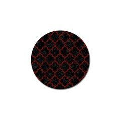 Tile1 Black Marble & Red Wood (r) Golf Ball Marker (4 Pack) by trendistuff