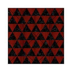 Triangle3 Black Marble & Red Wood Acrylic Tangram Puzzle (6  X 6 ) by trendistuff