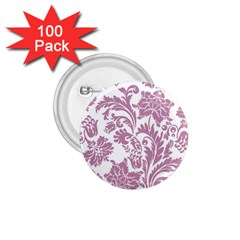 Vintage Floral Pattern 1 75  Buttons (100 Pack)  by 8fugoso