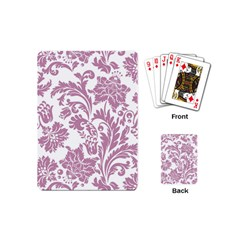 Vintage Floral Pattern Playing Cards (mini)  by 8fugoso
