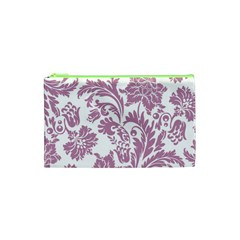 Vintage Floral Pattern Cosmetic Bag (xs) by 8fugoso