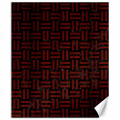 Woven1 Black Marble & Red Wood (r) Canvas 8  X 10  by trendistuff