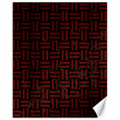 Woven1 Black Marble & Red Wood (r) Canvas 16  X 20   by trendistuff