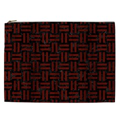 Woven1 Black Marble & Red Wood (r) Cosmetic Bag (xxl)  by trendistuff
