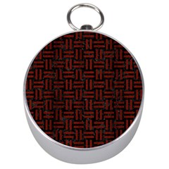 Woven1 Black Marble & Red Wood (r) Silver Compasses by trendistuff