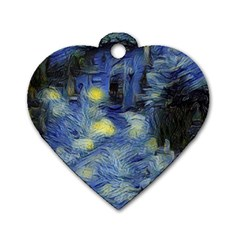 Van Gogh Inspired Dog Tag Heart (one Side) by 8fugoso