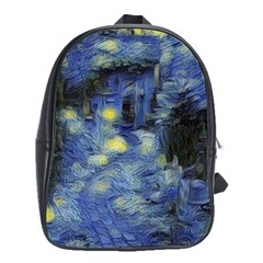 Van Gogh Inspired School Bag (xl) by 8fugoso