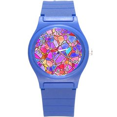 Mosaic Linda 1 Round Plastic Sport Watch (s) by MoreColorsinLife