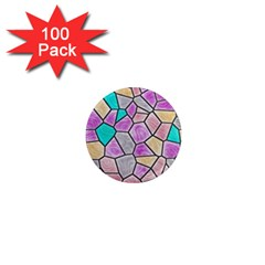 Mosaic Linda 3 1  Mini Magnets (100 Pack)  by MoreColorsinLife