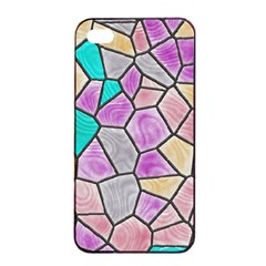 Mosaic Linda 3 Apple Iphone 4/4s Seamless Case (black) by MoreColorsinLife