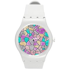 Mosaic Linda 3 Round Plastic Sport Watch (m) by MoreColorsinLife