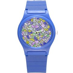 Mosaic Linda 5 Round Plastic Sport Watch (s) by MoreColorsinLife