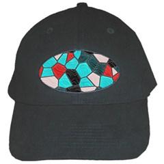 Mosaic Linda 4 Black Cap by MoreColorsinLife