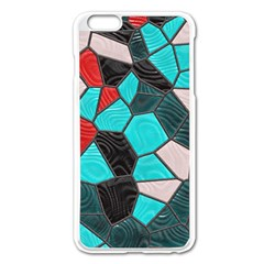 Mosaic Linda 4 Apple Iphone 6 Plus/6s Plus Enamel White Case by MoreColorsinLife